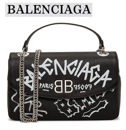 [BALENCIAGA セール] BB ROUND M GRAFFITI BAG★