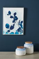 Anthropologie Leaves of Blue Wall Art