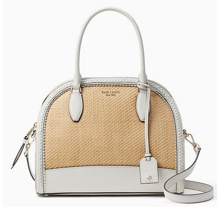 Spring Sale! reiley straw large dome satchel 【Kate Spade】