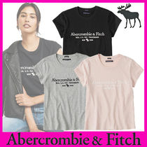 Abercrombie & Fitch(アバクロ) Tシャツ・カットソー Abercrombie & Fitch◆スリムフィット ロゴTシャツ・3色◆即発