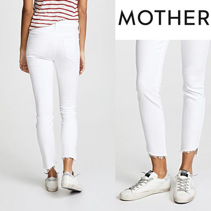 MOTHER Stunner Zip Ankle Step Fray Jeans デニム 白 関税込