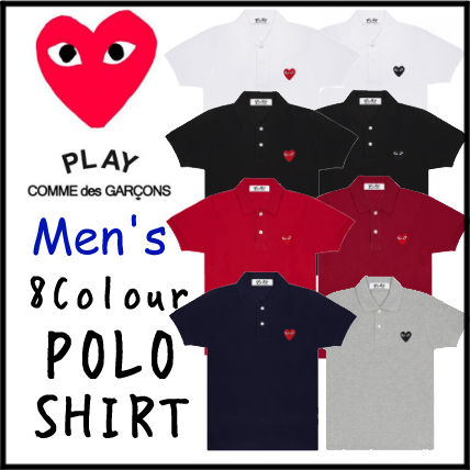 COMME des GARCONS PLAY★Men's ポロシャツ 8カラー POLO SHIRT