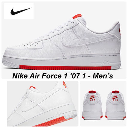 【NIKE】AIR FORCE 1 '07 1-Men's☆WHITE/ HABANERO RED☆