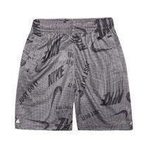 NIKE 86E395 G4T KIDS AOP DRI-FIT SHORT GUNSMOKE
