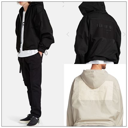 【FEAR OF GOD】6th Collection ナイロン フーディー ロゴ