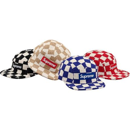 Checkerboard Boucle Camp Cap SS19
