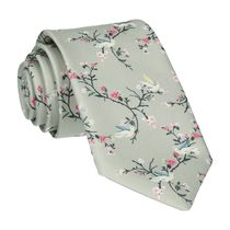 Mrs Bow Tie Chinoiserie in Sage Green Tie