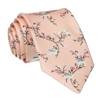 Mrs Bow Tie Chinoiserie in Light Peach Tie