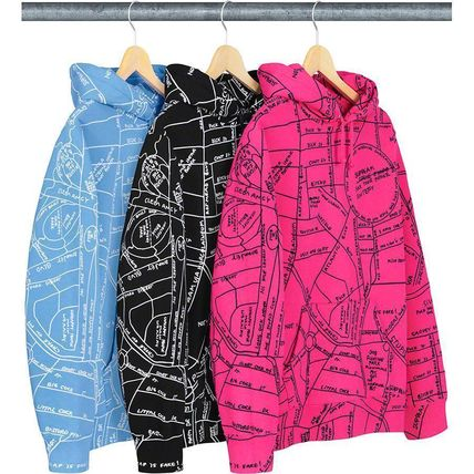 Supreme Gonz Embroidered Map Hooded Sweatshirt SS19