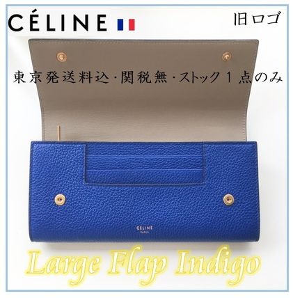 CELINE【限定1・パリ買付東京発】旧ロゴ Large Flap インディゴ