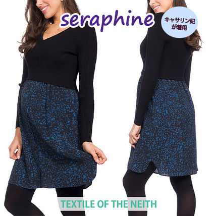 ◆seraphine◆英国妃ご愛用*授乳対応マタニティワンピ 長袖