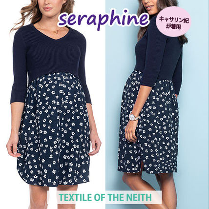 ◆seraphine◆英国妃ご愛用*授乳対応マタニティワンピ