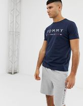 Hilfiger crew neck t-shirt with chest logo print in navy