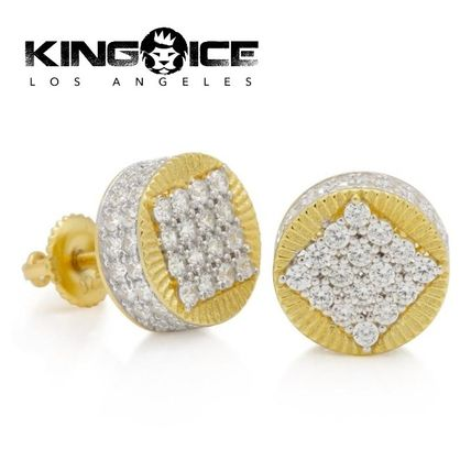 da19a54e0 King Ice(キングアイス) ピアス KING ICE☆14K Gold Sterling Silver Circle Stud