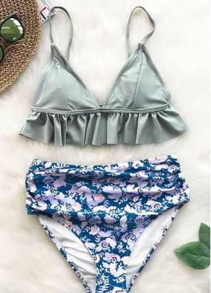 CUPSHE/カップシー/MAGIC CRYSTAL FALBALA BIKINI SET