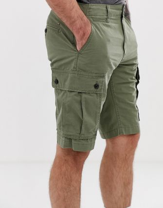 送関込◆Tommy Hilfiger light twill cargo short in olive