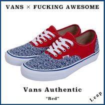 """【VANS×FUCKING AWESOME】入手困難 VANS Authentic """"Red"""""""