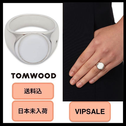 ■VIPSALE・日本未入荷■Tom Wood Oval White Agate Silver Ring