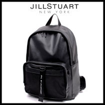 【JILL BY JILLSTUART】 ★FAKE LEATHER MESH POCKET BACKPACK★