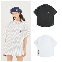 日本未入荷ROMANTIC CROWNのE.D.V Stripe Half Shirt 全2色