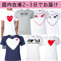 PLAY COMME des GARCONS(プレイコムデギャルソン) トップスその他 国内即発 COMME des GARCONS*PLAYハートロゴ Tシャツ レディース