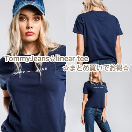 TommyJeans☆linear logo tee☆まとめ買いでお得