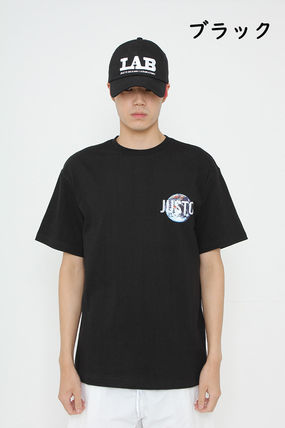 JUSTO Tシャツ・カットソー ★JUSTO★ 兼用 SAVE THE EARTH T-SHIRTS 半袖Tシャツ 2色(3)