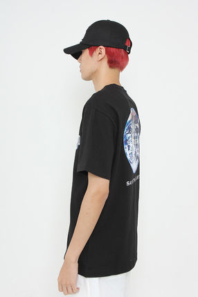 JUSTO Tシャツ・カットソー ★JUSTO★ 兼用 SAVE THE EARTH T-SHIRTS 半袖Tシャツ 2色(5)