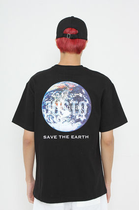 JUSTO Tシャツ・カットソー ★JUSTO★ 兼用 SAVE THE EARTH T-SHIRTS 半袖Tシャツ 2色(7)
