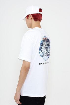 JUSTO Tシャツ・カットソー ★JUSTO★ 兼用 SAVE THE EARTH T-SHIRTS 半袖Tシャツ 2色(10)