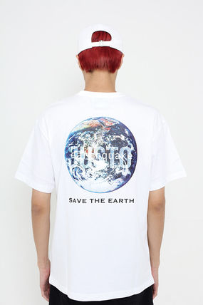 JUSTO Tシャツ・カットソー ★JUSTO★ 兼用 SAVE THE EARTH T-SHIRTS 半袖Tシャツ 2色(12)