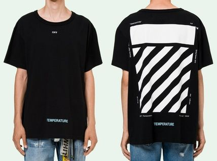 OFF WHITE 18SS DIAG TEMPERATURE S/S TEE