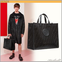 ◆FENDI  19SS新作◆日本未入荷◆SHOPPER◆Black fabric bag◆