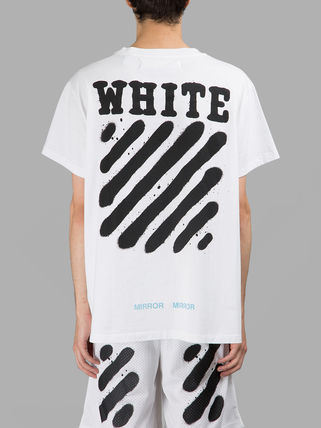 [訳あり]即発送 OFF WHITE SPRAY DIAGONALS T-SHIRT