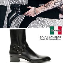 Saint laurent wyatt 40 harness boots