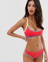 Polo Ralph Lauren crop racerback bikini top in red
