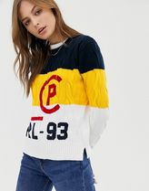 Polo Ralph Lauren colour block logo knit jumper
