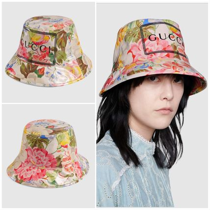 London発★Gucci★floralフローラルプリントバケットハット
