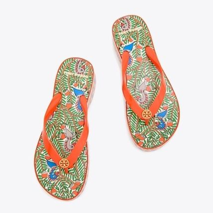 Tory Burch シューズ・サンダルその他 関税・送料込TORY BURCH☆PRINTED CARVED WEDGE FLIP-FLOP(4)