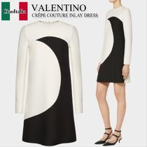 Valentino CREPE COUTURE INLAY DRESS