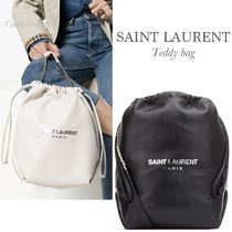 SAINT LAURENT テディ DRAWSTRING BAG