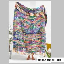 UrbanOutfitters☆Bright Multi-Stripe Woven Throw Blanket☆N
