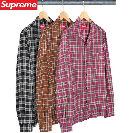 19SS Week13 Supreme Plaid Rayon Shirt S~XL 3色 チェック