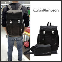 ★Calvin Klein★Monogram Two-in-One Backpack Set★Black★