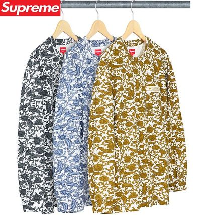 19SS Week13 Supreme Damask L/S Top S~XL 3色