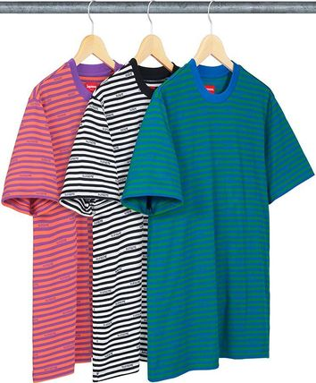 19SS Week13 Supreme Logo Stripe S/S Top S~XL 3色