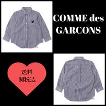 COMME des GARCONS(コムデギャルソン) キッズ用トップス ☆COMME des GARCONS☆長袖ストライプシャツ 紺 *送料関税込み*