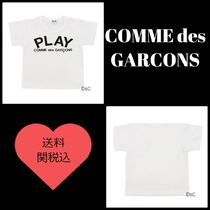 COMME des GARCONS(コムデギャルソン) キッズ用トップス ☆COMME des GARCONS☆半袖ロゴTシャツ 白 *送料関税込み*