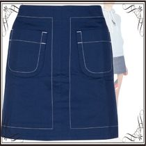 関税込◆Navy blue denim mini skirt