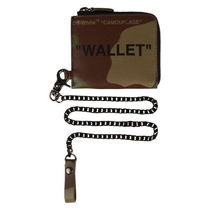 【Off-White】CAMOUFLAGE QUOTE CHAIN WALLET 財布 コインケース